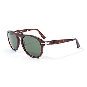 Persol 649 Original Green Lens Sunglasses - Havana