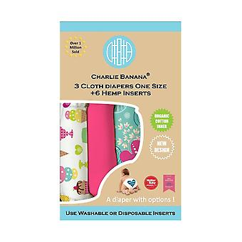 Charlie Banana® Organic One Size Reusable Diapers - 3 pack