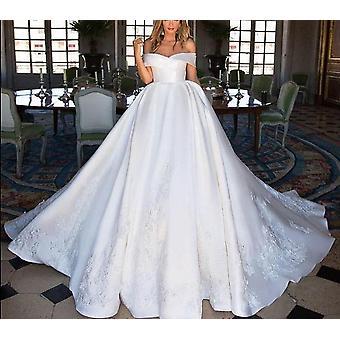 båt halsen luksus ball-kjole brudekjole (sett 2)