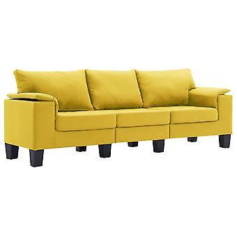 vidaXL 3-Sitzer-Sofa Gelb Stoff