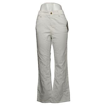 IMAN Global Chic Mujeres's Jeans Denim Pull-On Bootcut Blanco 734928100