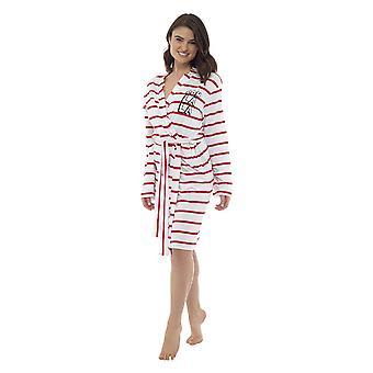 Femei bumbac dungi peste tot halat de baie rochie