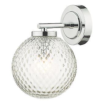 DAR WAYNE Salle de bain Mur Lumière Chromé Poli Verre IP44