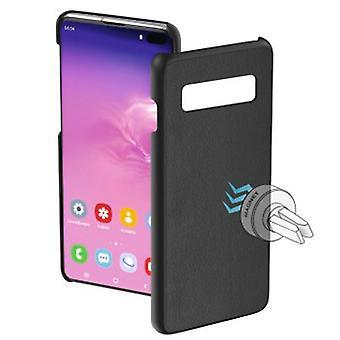 """Hama """"Magnet"""" -suojakotelo Samsung Galaxy S10 + Mustalle"""