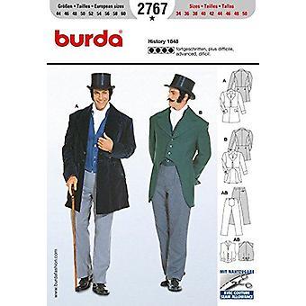 Burda Craft Sewing Pattern 2767 - Mens History Suit 1848 Sizes: 34-50