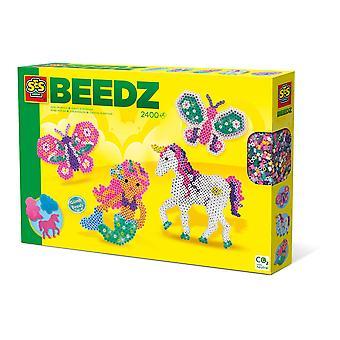 Ses Creative Beedz Children's Iron-on Beads Fantasy World Mosaic Kit- 2400 Iron-on Kralen- Unisex
