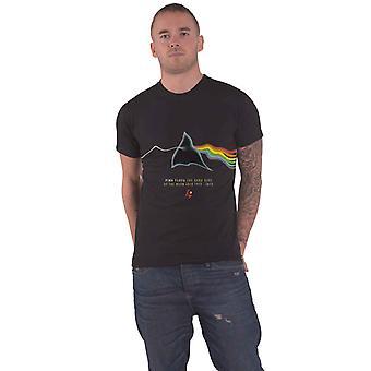 Pink Floyd Camiseta Dark Side of the Moon 40 aniversario Oficial Mens Black