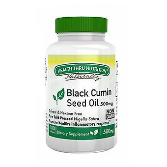 Health Thru Nutrition Black Seed Oil, 500 mg, 100 Softgel