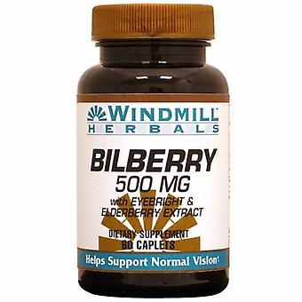 Windmill Health Bilberry, 500 mg, 60 Caps