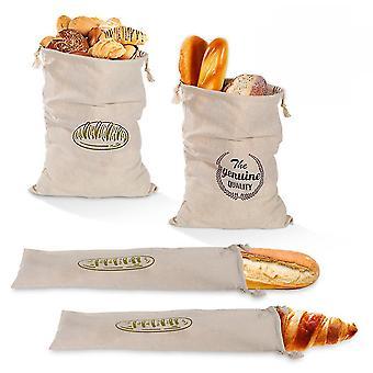 Leinen Brot Tasche wiederverwendbare Brot Tasche Französisch Loaf Brot Drawstring Tasche Baumwollbrot Tasche