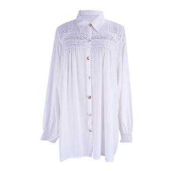 בגדי תחרה Kaftan Suncreen שורה אחת כפתורים ביקיני לכסות