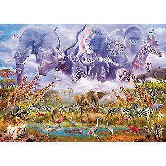Schmidt Animals at the Watering Hole Jigsaw Puzzle (1000 pezzi)