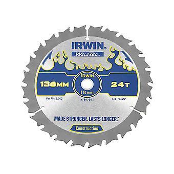 IRWIN Weldtec Trådløs rundsavsklinge 136 x 10 mm x 24T ATB C IRW1897391