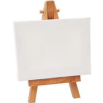 Single Mini Wooden Easel and Canvas for Wedding Crafts