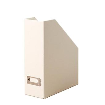 2Pcs book file map stand box desktop opslag box papier boekenplank Office opvouwbare magazine bestand