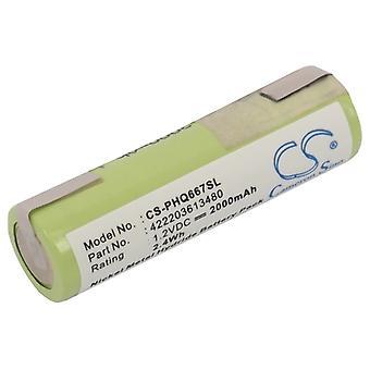 Batteri til PHILIPS Wahl 422203613480 138-10584 93154-101 8550 Vision 180 PQ222
