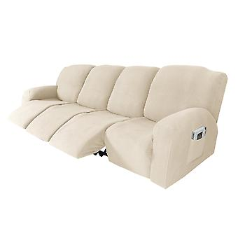 Recliner sofa slipcover couch covers for 4 cushion couch, sofa cover furniture protector with elasticity, natural