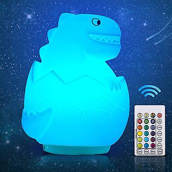 Gvoo Dinosaur Night Light, Rechargeable RGBW 16 Colour Modes Children LED Lamp with Adjustable