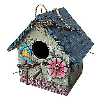 הבית קיר הר חיצוני חסין גשם קן עץ אמנויות עץ וילה מרפסת מאכיל ציפורים תלוי