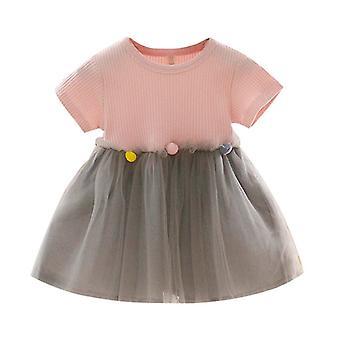Patchwork Tüll Casual Kleidung Prinzessin Kleider