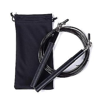 Jump ropes crossfit jump rope adjustable skip rope black