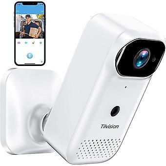 Vezeték nélküli biztonsági kamera, újratölthető akkumulátoros kamera, Éjjellátó, 2-way Audio, WiFi Smart