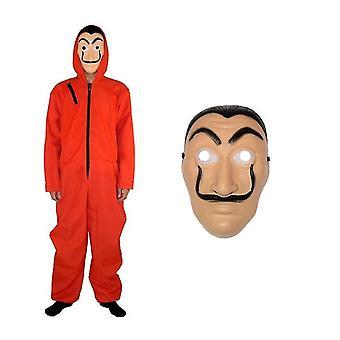 Dali Mask Red Costume For La Casa De Papel Coverall Jumpsuit