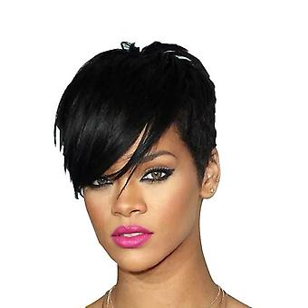 Short Straight Inclined Bangs Wig For Women