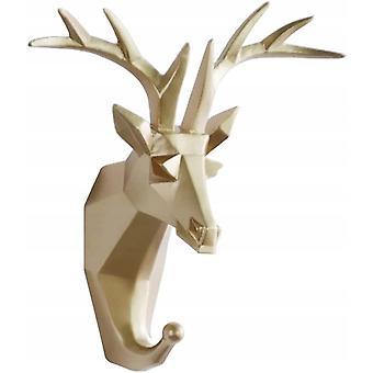 vegg krok selvklebende dyr harpiks frakk krok, håndkle krok veggmontert dør krok håndkle klær lagring og rydding, gylden hjort