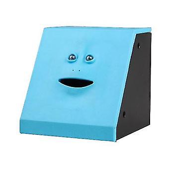 Face Bank Facial Money Pot Automatic Eating Coin And Money Box Piggy Bank