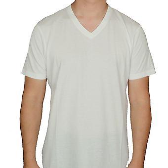 Elementet v-hals t-skjorte ~ grunnleggende V SS hvit