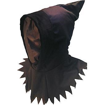 Hetten og maske ghoul svart på hodet