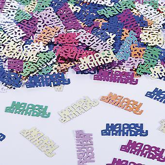 Confetes de mesa de festa de aniversário feliz aniversário texto decoração confetes