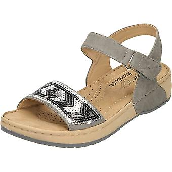 Sandálias de dedo aberto Rieker Cunha salto plataforma cinza V5778-42