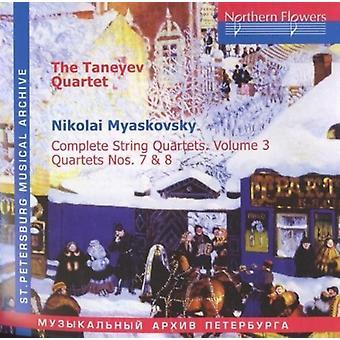 Taneyev Quartet - N. Miaskovsky - Complete String Quartets 3 [CD] USA import