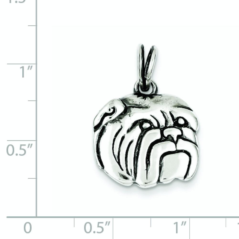 925 Sterling Silver Solid finish Bulldog Charm Pendant Necklace Jewelry Gifts for Women - 3.5 Grams