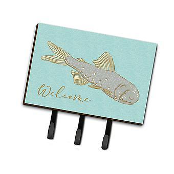 Carolines tesoros BB8550TH68 peces Bienvenido correa o llavero