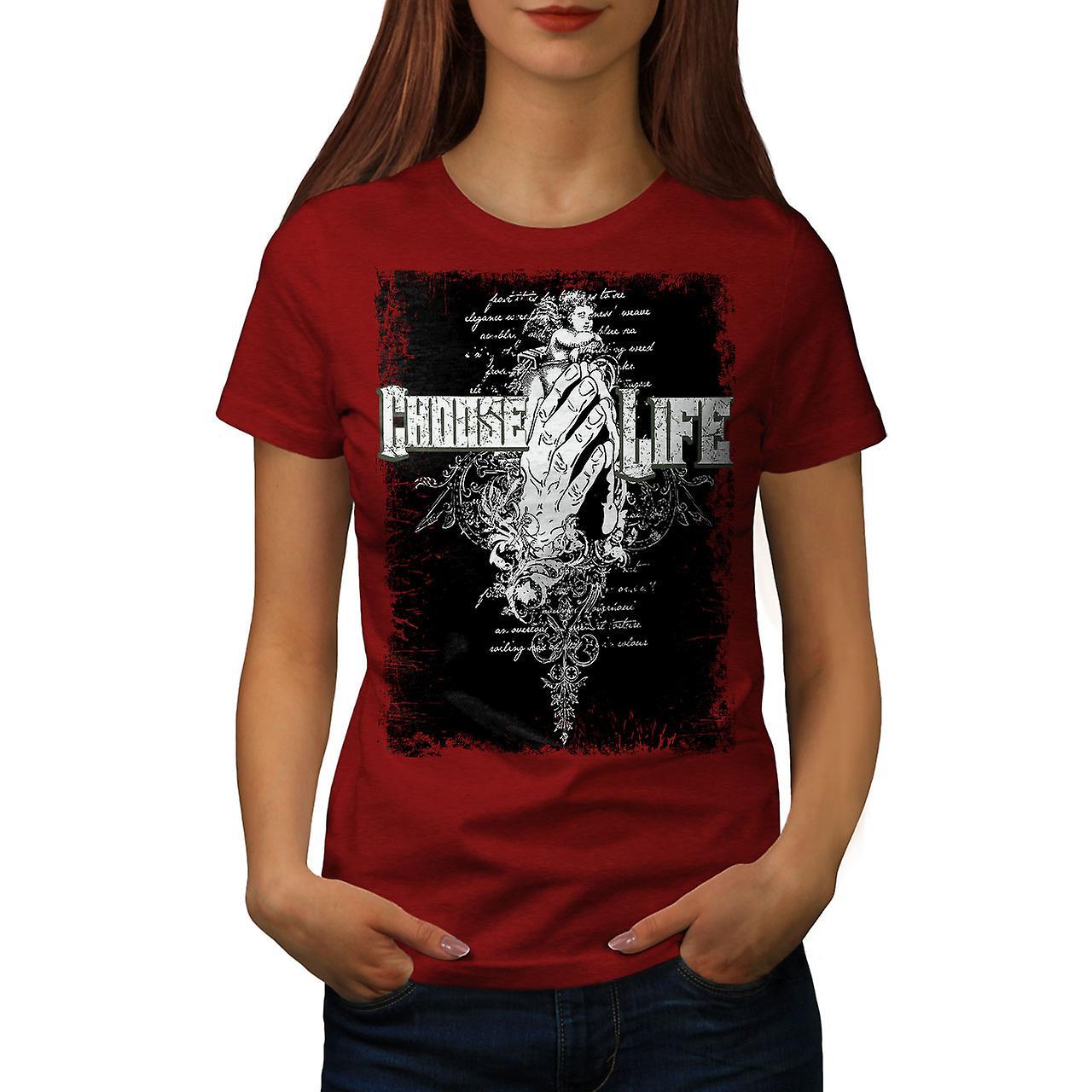 Choisir la vie femmes mortes RedT-chemise | Wellcoda
