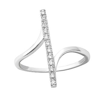 Bar - 925 Sterling Silver Jewelled Rings - W33918X