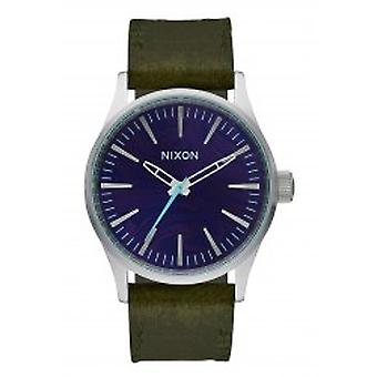 Nixon The Sentry 38 Leather Purple / Olive (A3772302)