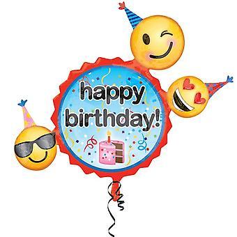 Amscan Supershape Emoji Birthday Wishes Balloon