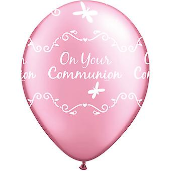Qualatex On Your Communion Latex Balloons (Pack Of 6)