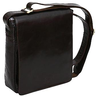 Luxury Genuine Leather Casual Flapover Cross Body Shoulder Messenger Bag Satchel