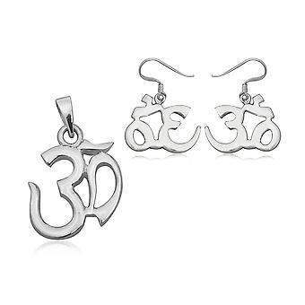 Pynt: vedhæng og øreringe/sølv om ører 925 4982