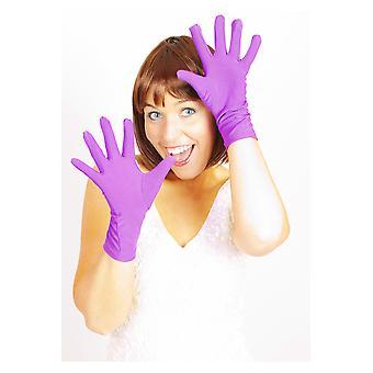 Kurz lila Handschuhe