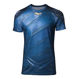 Mens Marvel Comics Thor Ragnarok Loki Armor Sublimation T-Shirt Large