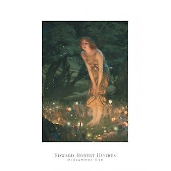 Midsummer Eve c1908 Poster Print by Edward Robert Hughes (24 x 32)