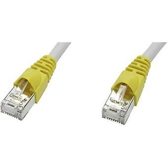 Telegärtner RJ45 (cross-over) Nettverk Kabel CAT 6A S/FTP 7,50 m Grå Flammehemmende, inkl.