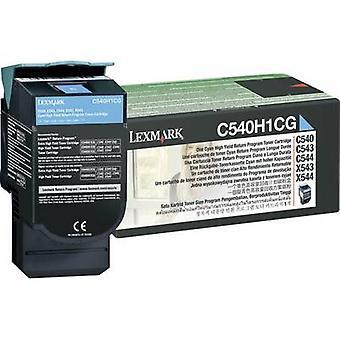 ليكسمارك تونر إعادة تدوير C540 C543 C544 C546 X544 X546 X548 C540H1CG الأصلي سيان 2000 الجانبين