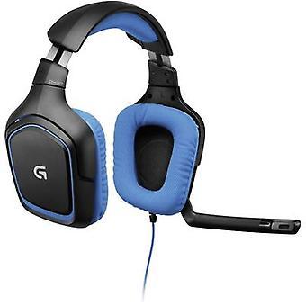 لوجيتك ألعاب القمار G430 سماعة 3.5 مم جاك كورديد أكثر الإذن الأسود، الأزرق